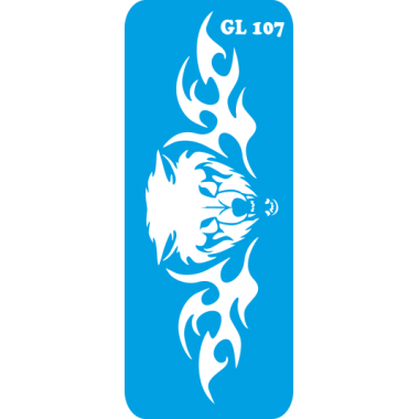 Трафарет для бодиарта  Медведица код GL 107