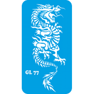 Трафарет для бодиарта Дракон код GL 77