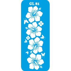 Трафарет для бодиарта  Цветы код GL 81