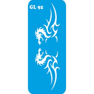 Трафарет для бодиарта Два Дракона код GL 92