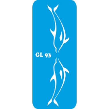 Трафарет для бодиарта Два Дельфина код GL 93