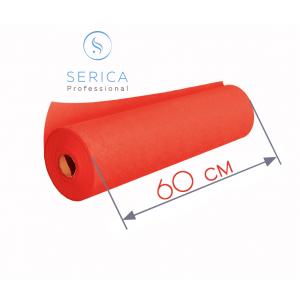 Одноразовые простыни в рулоне 0,6 х 100 м.,  23 гр/м2 (красный)