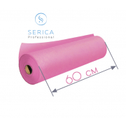 Одноразовые простыни в рулоне 0,6 х 100 м.,  23 гр/м2 (розовый)