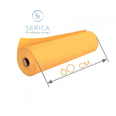 Одноразовые простыни в рулоне 0,6 х 100 м.,  23 гр/м2 (оранжевый)
