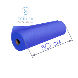 Одноразовые простыни в рулоне 0,8 х 100 м.,  23 гр/м2 (синий)