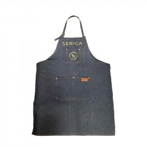 Фартук джинсовый с карманом с логотипом тм Serica