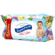 Влажные салфетки Superfresh для детей и мам с клапаном