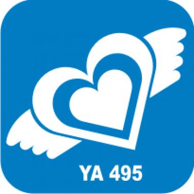 Трафарет для бодиарта Любовь Сердце с крыльями код № YA 495