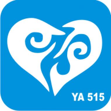 Трафарет для бодиарта Любовь Сердце код № YA 515
