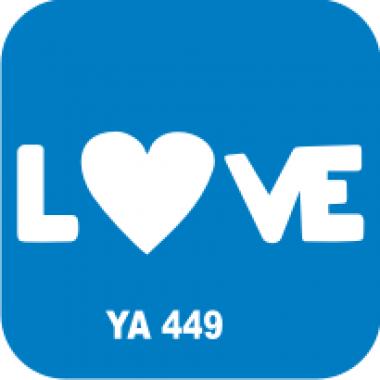 Трафарет для бодиарта Любовь Love код № YA 449