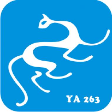 Трафарет для бодиарта Мир животных Кошечка код № YA 263