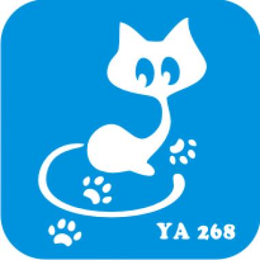 Трафарет для бодиарта Мир животных Кошечка код № YA 268