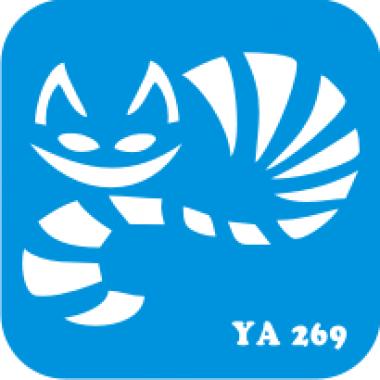 Трафарет для бодиарта Мир животных Кошечка код № YA 269