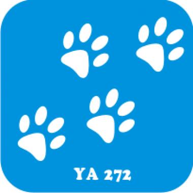 Трафарет для бодиарта Мир животных Следы лапок  код № YA 272