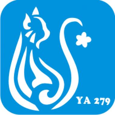 Трафарет для бодиарта Мир животных Кошечка код № YA 279