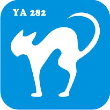Трафарет для бодиарта Мир животных Кошечка код № YA 282