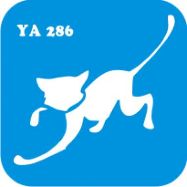 Трафарет для бодиарта Мир животных Кошечка код № YA 286