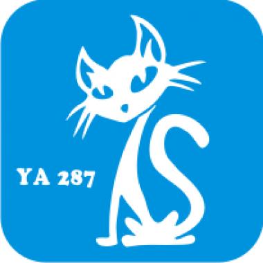 Трафарет для бодиарта Мир животных Кошечка код № YA 287