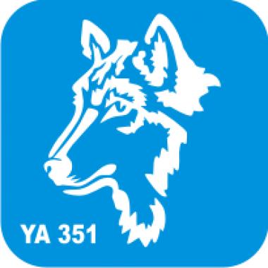 Трафарет для бодиарта Мир животных Волк код № YA 351