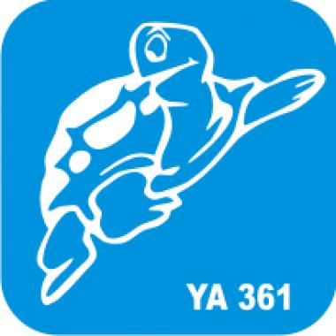 Трафарет для бодиарта Мир животных Черепаха код № YA 361