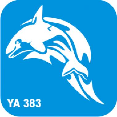 Трафарет для бодиарта Водный мир Дельфин код № YA 383