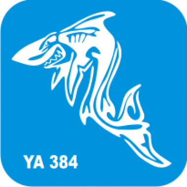 Трафарет для бодиарта Водный мир Акула код № YA 384