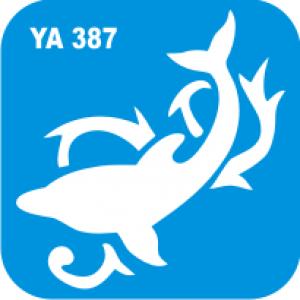 Трафарет для бодиарта Водный мир Дельфин код № YA 387