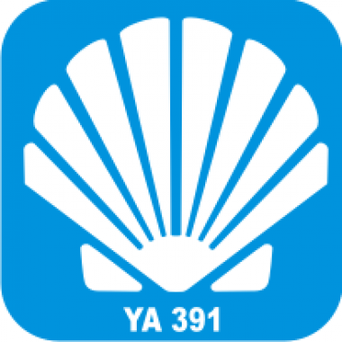 Трафарет для бодиарта Водный мир Раковина код № YA 391