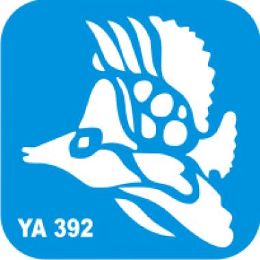Трафарет для бодиарта Водный мир Рыбка код № YA 392