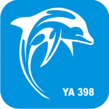 Трафарет для бодиарта Водный мир Дельфинчик код № YA 398