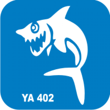 Трафарет для бодиарта Водный мир Акула код № YA 402