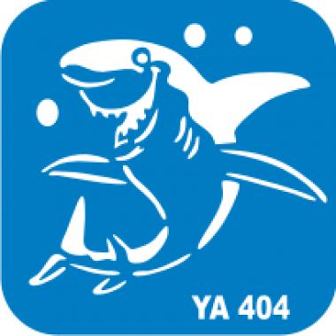 Трафарет для бодиарта Водный мир Акула  код № YA 404