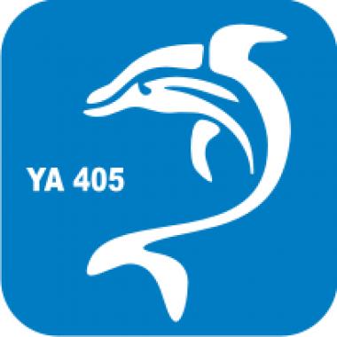 Трафарет для бодиарта Водный мир Дельфин код № YA 405