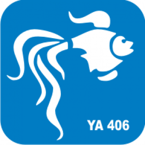 Трафарет для бодиарта Водный мир Золотая рыбка код № YA 406