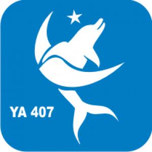 Трафарет для бодиарта Водный мир Дельфин луна код № YA 407