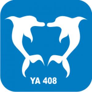Трафарет для бодиарта Водный мир  Дельфин код № YA 408