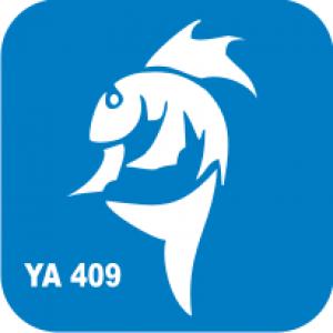 Трафарет для бодиарта Водный мир Акула код № YA 409