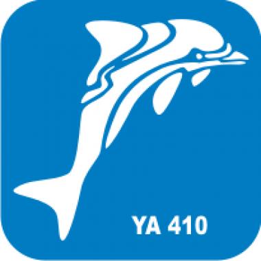 Трафарет для бодиарта Водный мир Дельфин код № YA 410