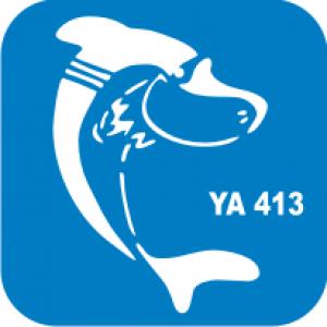 Трафарет для бодиарта Водный мир Акула код № YA 413