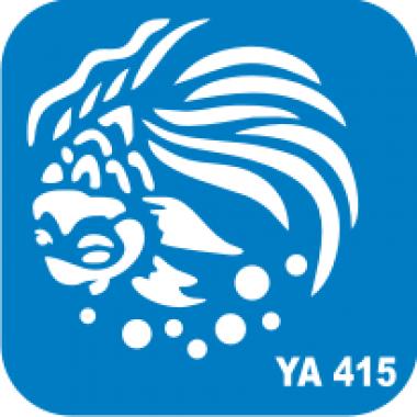 Трафарет для бодиарта Водный мир Рыбка  код № YA 415