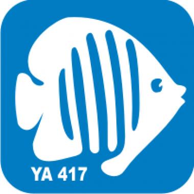 Трафарет для бодиарта Водный мир Рыбка клоун  код № YA 417