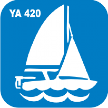 Трафарет для бодиарта Водный мир Парусник  код № YA 420