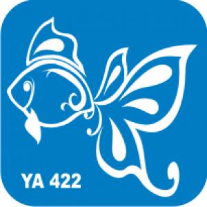 Трафарет для бодиарта Водный мир Золотая рыбка код № YA 422