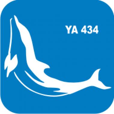 Трафарет для бодиарта Водный мир Дельфин код № YA 434