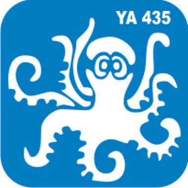 Трафарет для бодиарта Водный мир Осьминог код № YA 435