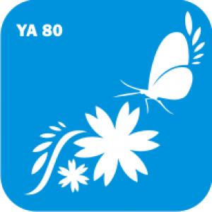 Трафарет для бодиарта Цветы код № YA 80