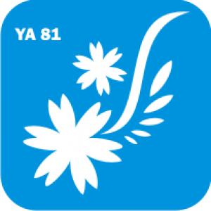 Трафарет для бодиарта Цветы код № YA 81