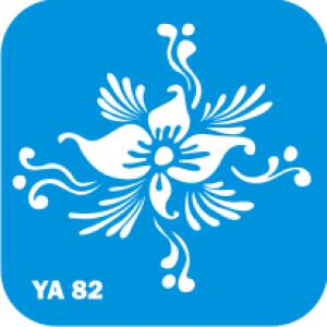 Трафарет для бодиарта Цветы код № YA 82