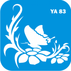Трафарет для бодиарта Цветы код № YA 83