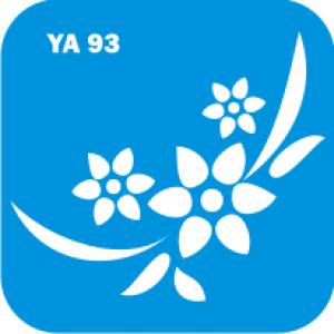 Трафарет для бодиарта Цветы код № YA 93